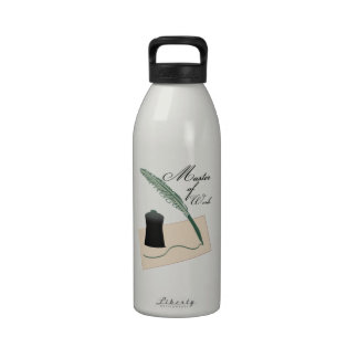 Master Of Words Water Bottle