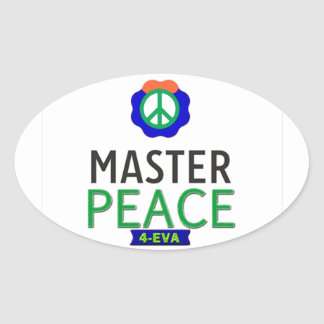 MASTER PEACE OVAL STICKERS