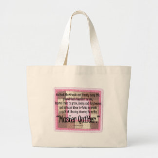 Master quilter jumbo tote bag