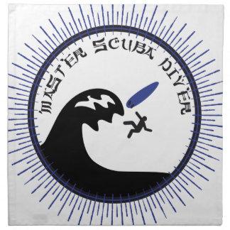 Master Scuba Diver Printed Napkins