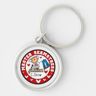Master Seamstress T-shirts and Gifts Silver-Colored Round Keychain