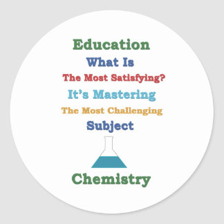 mastering satisfying Chemistry 3D Round Sticker