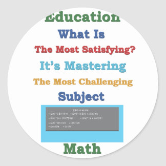 mastering satisfying Math 3D Round Sticker