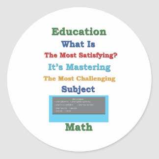 mastering satisfying Math 3D Classic Round Sticker