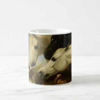 Masterpiece horse & dove painting John Herring Classic White Coffee Mug