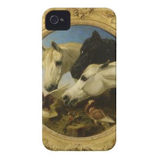 Masterpiece horse & dove painting John Herring iPhone 4 Covers