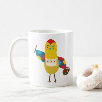 Masterpiece Painter Bird Coffee Mug