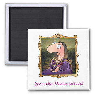 MASTERPIECES Breast Cancer Awareness Square Magnet