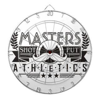 masters athletics shot put dartboard