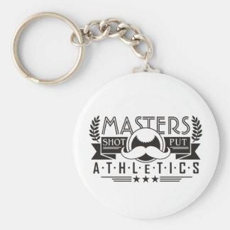 masters athletics shot put keychain