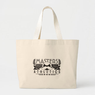 masters athletics shot put large tote bag