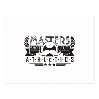 masters athletics shot put postcard