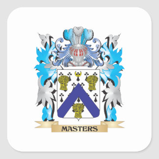 Masters Coat of Arms - Family Crest Square Sticker
