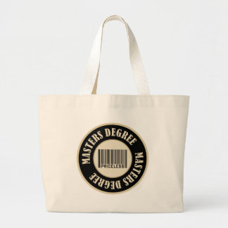 Masters Degree Priceless Jumbo Tote Bag