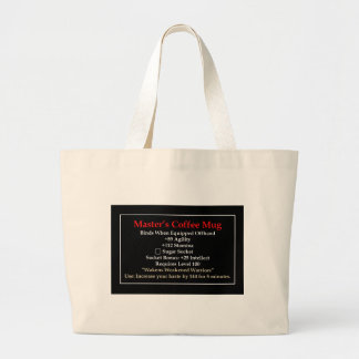 Master's Mug Large Tote Bag