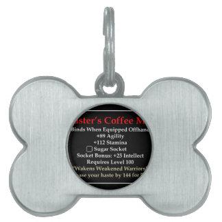 Master's Mug Pet Tags
