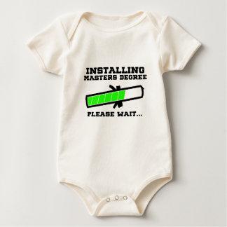 masters student baby bodysuit