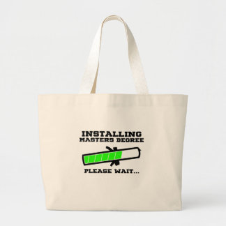 masters student large tote bag