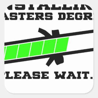 masters student square sticker