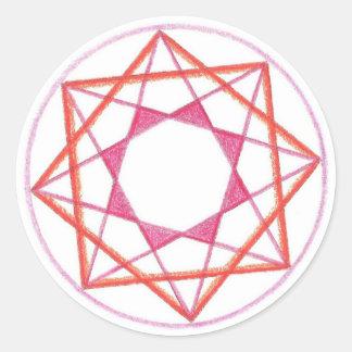 Mastery Mandala #2 Classic Round Sticker