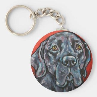 mastiff 2 basic round button keychain