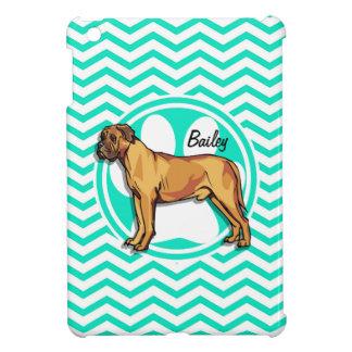 Mastiff; Aqua Green Chevron iPad Mini Cover