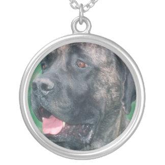 Mastiff Brindle Face Necklace