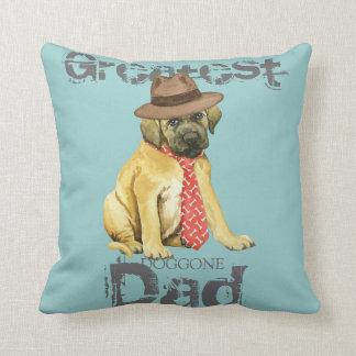 Mastiff Dad Throw Pillow