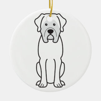 Mastiff Dog Cartoon Ceramic Ornament