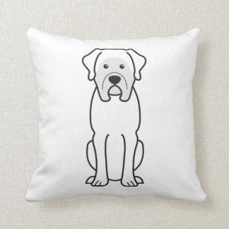 Mastiff Dog Cartoon Throw Pillow