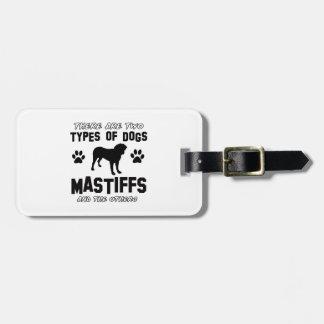mastiff dog Designs Luggage Tag