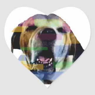 Mastiff Heart Sticker