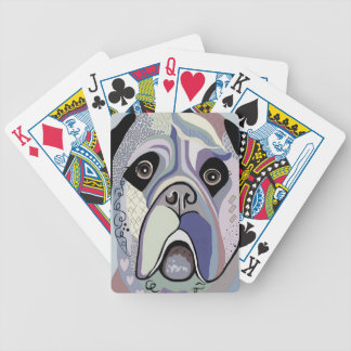 Mastiff in Denim Colors Bicycle Playing Cards