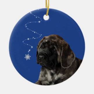 Mastiff Puppy Winter Snow Ornament