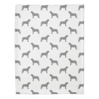 Mastiff Silhouettes Pattern Duvet Cover