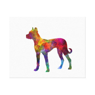 Mastiff Spanish 01 in watercolor 2 Canvas Print