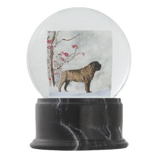 Mastiff Winter Snow Globe