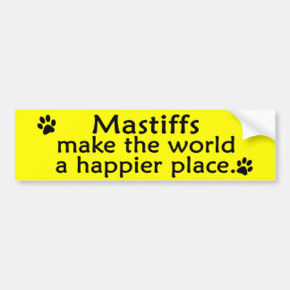 Mastiffs Happy Place Bumper Sticker