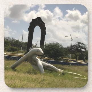 Mat iron iguana. coaster