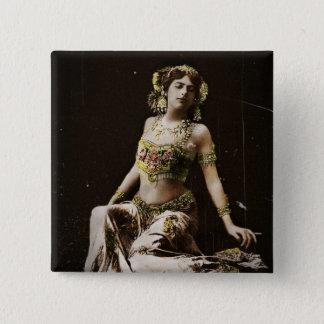 Mata Hari in Harem Costume 2 Inch Square Button