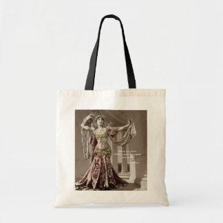 Mata Hari Vintage Bellydance Quote Budget Tote Bag