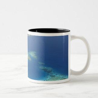 Matamanoa Island and coral reef, Mamanuca Island Two-Tone Coffee Mug