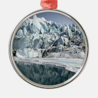 Matanuska Glacier Mouth Alaska Metal Ornament
