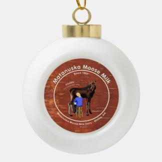 Matanuska Moose Milk Ceramic Ball Christmas Ornament
