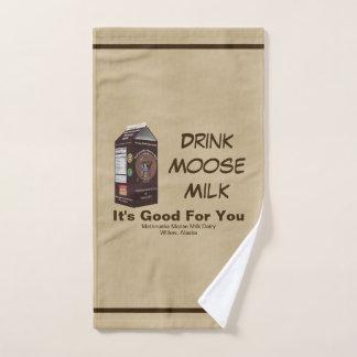 Matanuska Moose Milk Hand Towel