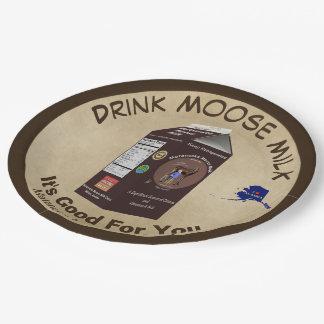 Matanuska Moose Milk Paper Plate