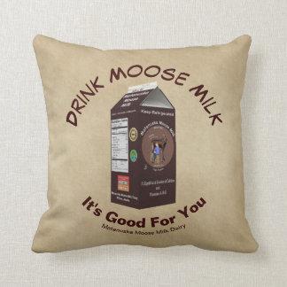 Matanuska Moose Milk Throw Pillow
