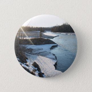 Matanuska River 2 Inch Round Button
