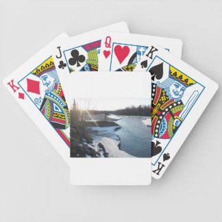 Matanuska River Bicycle Playing Cards