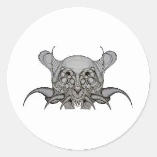 Match-a-Sketch Round Sticker